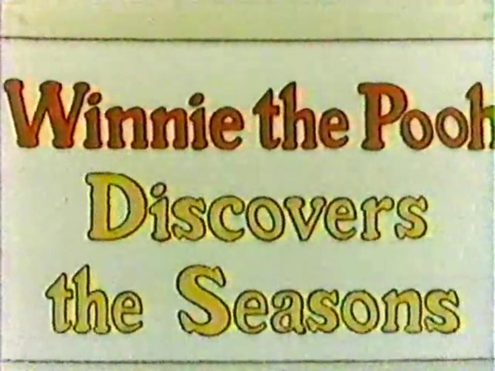 affiche poster winnie pooh discovers seasons disney