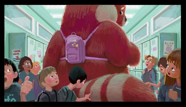 concept art turning red disney pixar