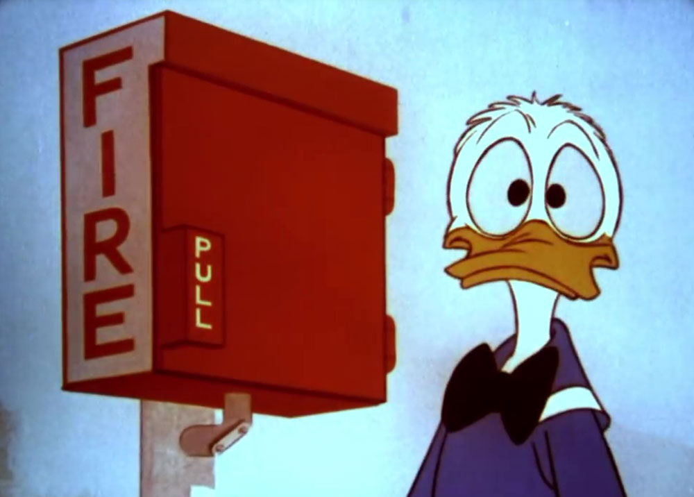 image donald fire survival plan disney