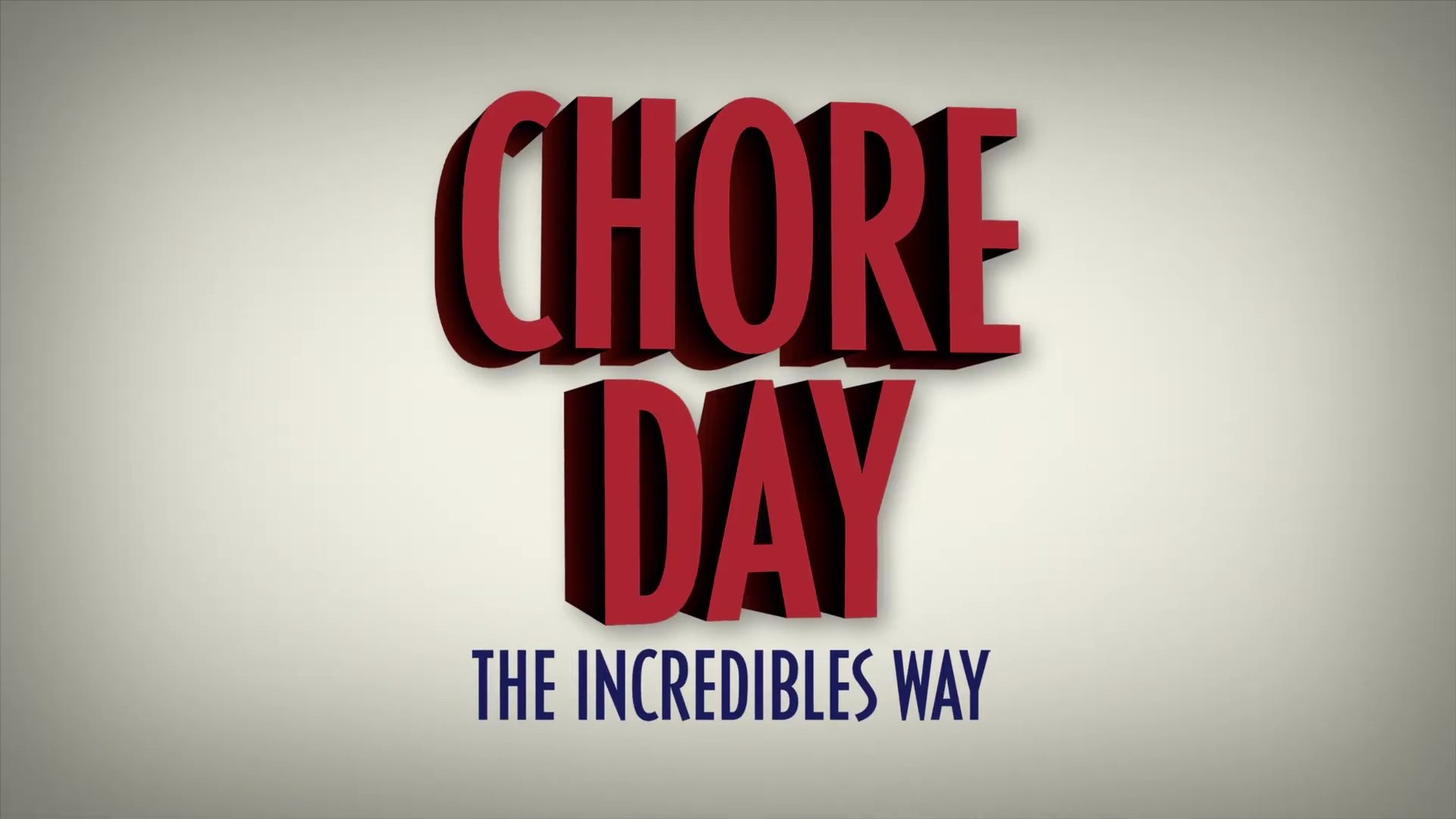 affiche poster chore day incredibles way pixar popcorn disney