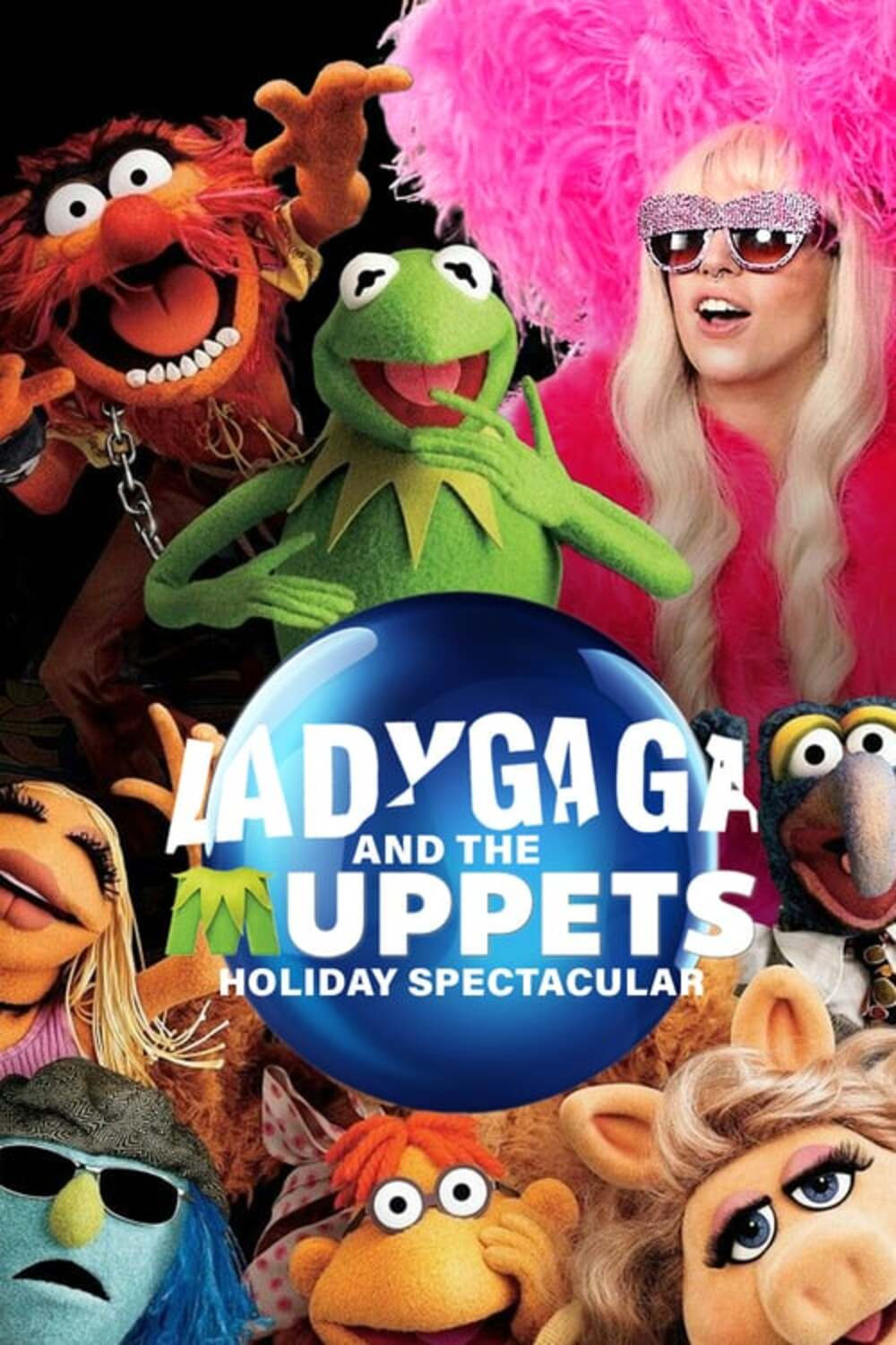 affiche poster lady gaga muppets holiday spectacular disney