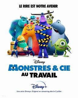 affiche poster monstres cie travail inc work disney pixar