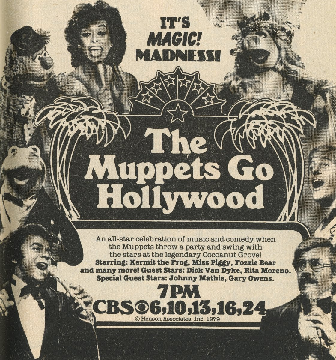 affiche poster muppets go hollywood disney