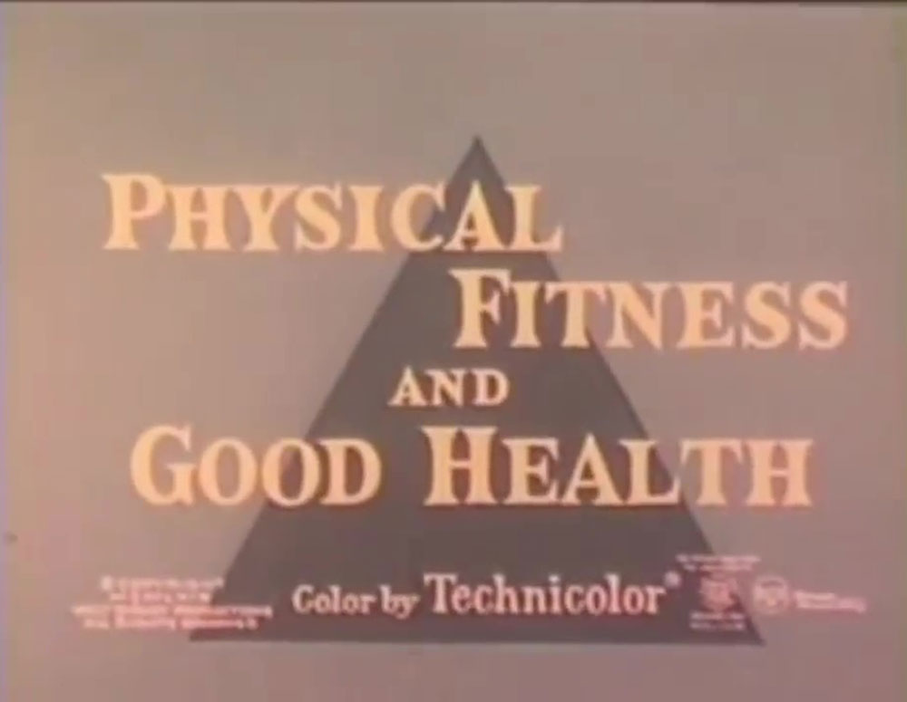 affiche poster physical fitness good health disney