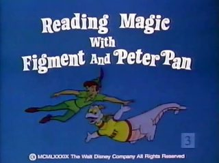 affiche poster reading magic figment peter pan disney