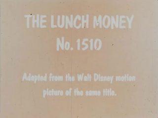 affiche poster should do lunch money disney