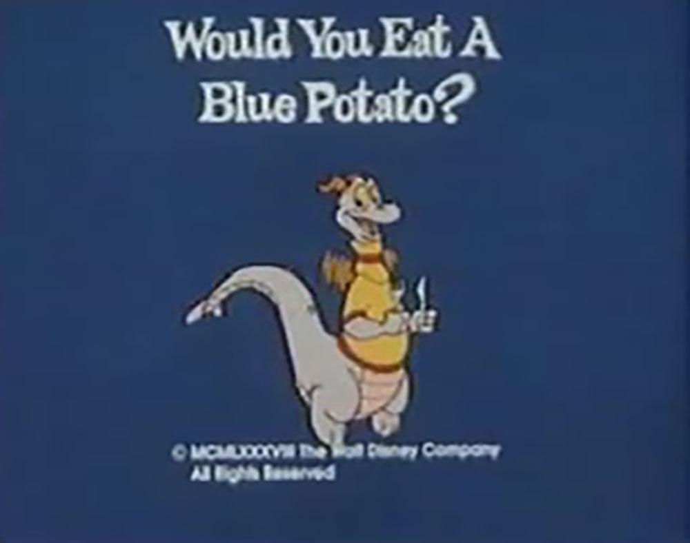 affiche poster would eat blue potato disney