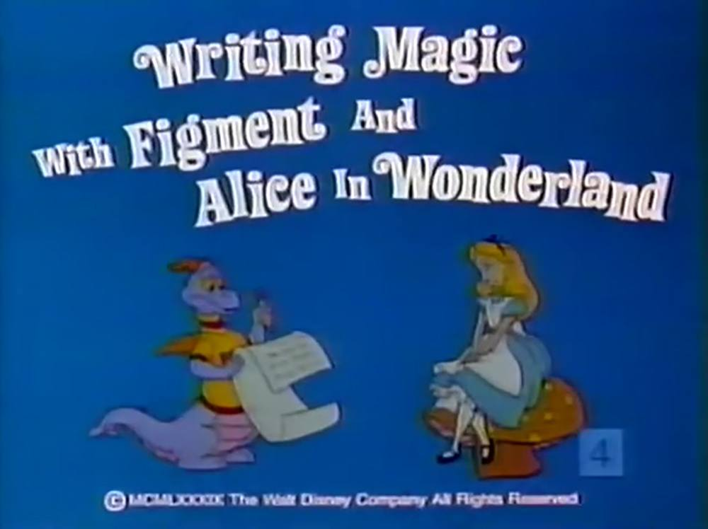 affiche poster writing magic figment alice wonderland disney