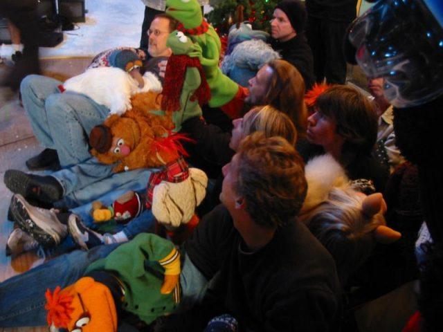coulisse joyeux muppet show noel very merry movie christmas disney