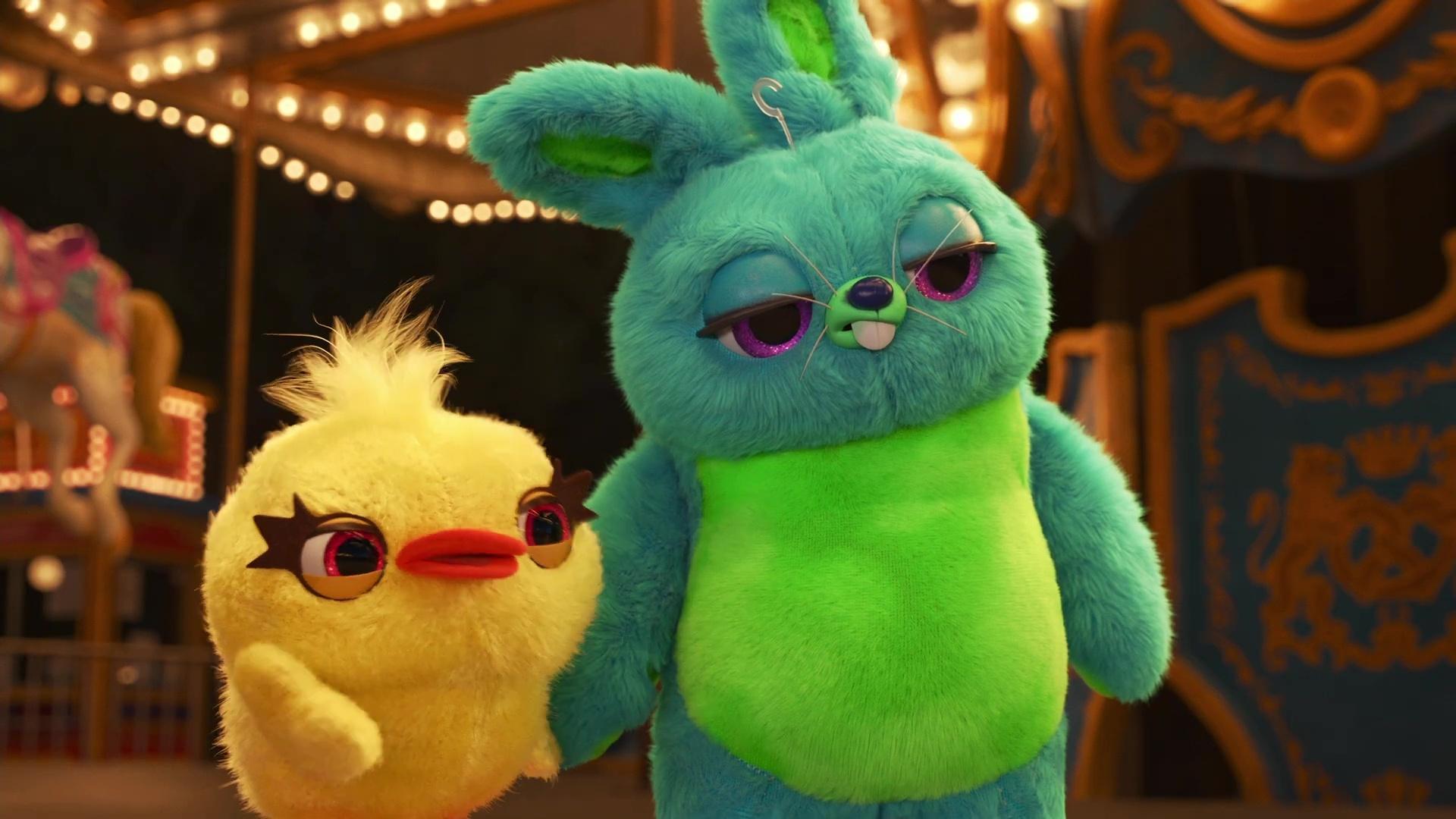 image fluffy stuff ducky bunny pixar popcorn disney