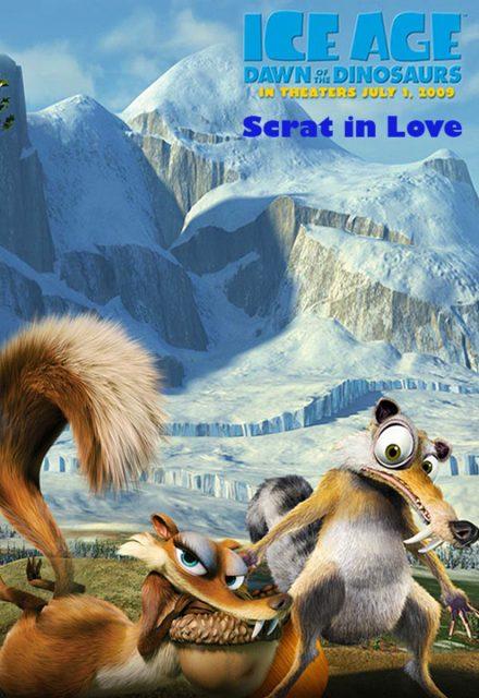 affiche poster amour noix scrat love disney blue sky