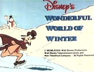 affiche poster disney wondferful world winter
