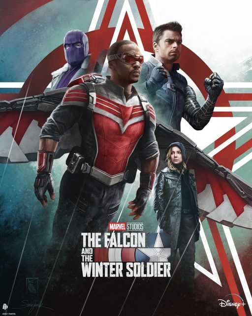 affiche poster falcon winter soldier soldat hiver disney marvel
