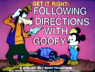 affiche poster get right following directions goofy disney