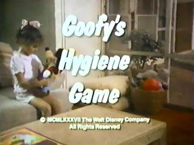 affiche poster goofy hygiene game disney
