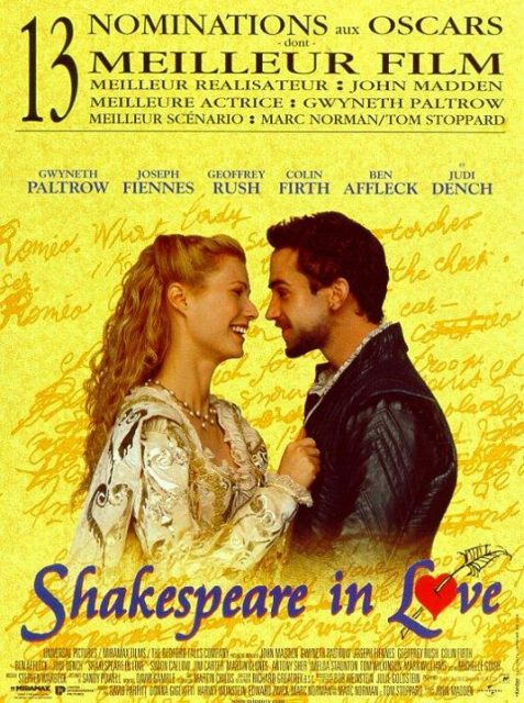 affiche poster shakespeare love disney