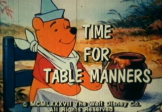 affiche poster time table manners disney