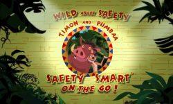 affiche poster wild safety smart timon pumbaa go disney
