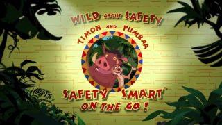 affiche poster wild safety smart timon pumbaa go disney