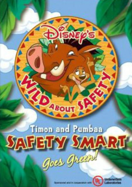 affiche poster wild safety smart timon pumbaa goes green disney