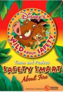 affiche poster wild safety timon pumbaa smart fire disney