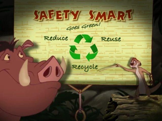image wild safety smart timon pumbaa goes green disney