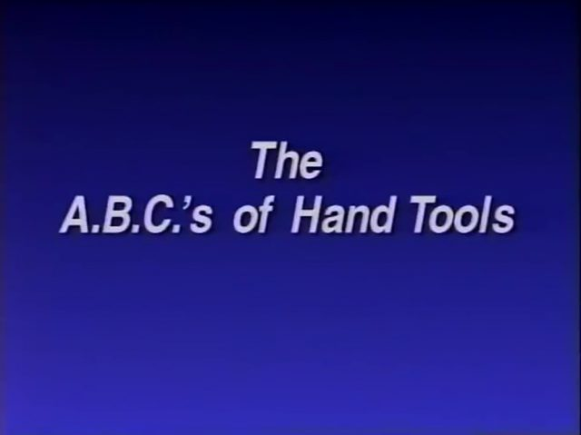 affiche poster abc hand tools disney
