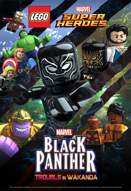 affiche poster lego marvel super heros black panther danger trouble wakanda disney