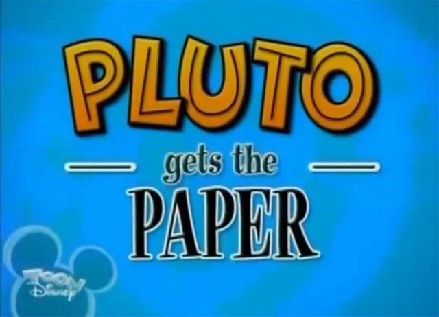 affiche poster pluto chercher soucoupe volante paper disney
