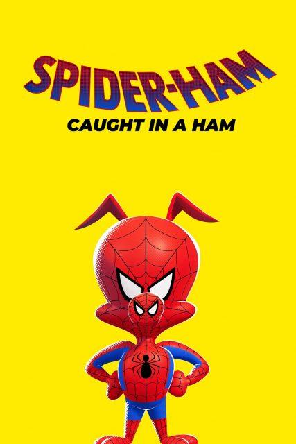 affiche poster spider ham caught disney marvel