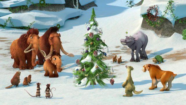 image noel givre age glace ice christmas mammoth disney blue sky