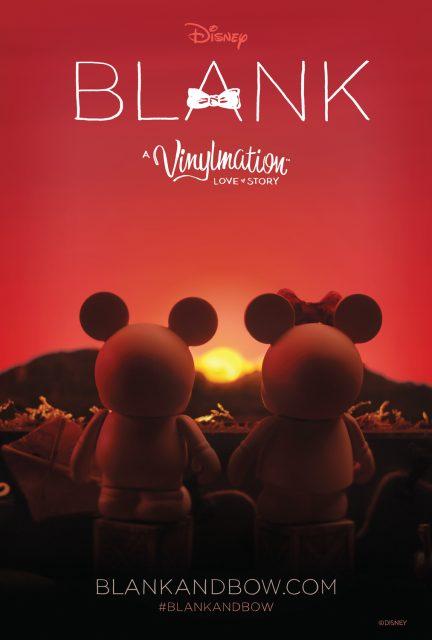 affiche poster blank vinylmation love story disney