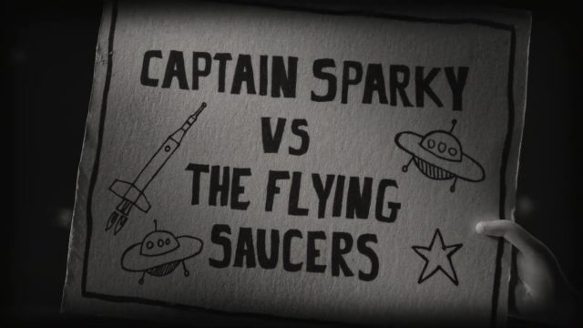 affiche poster captain sparky soucoupe volante flying saucers disney