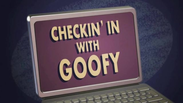 affiche poster checkin goofy disney