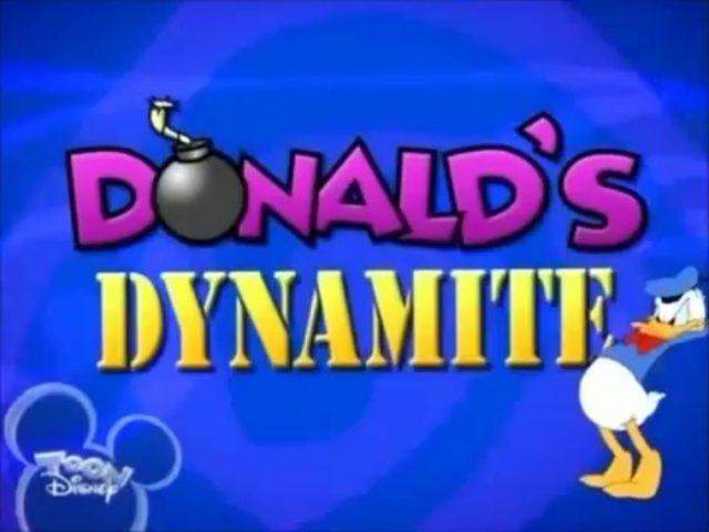 affiche poster donald éclate opéra dynamite disney