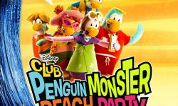 affiche poster fete monstre plage club penguin monster beach party disney