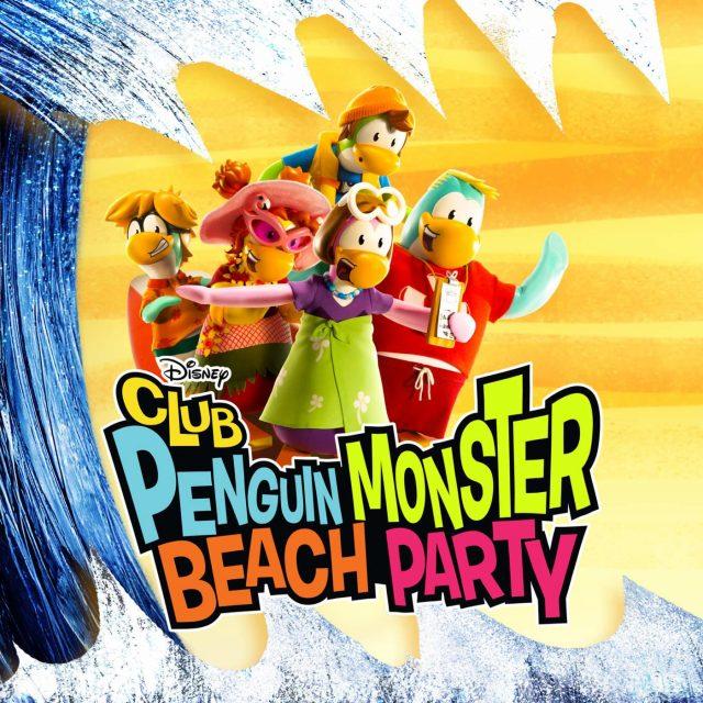 affiche poster fete monstre plage club penguin monster beach party disney