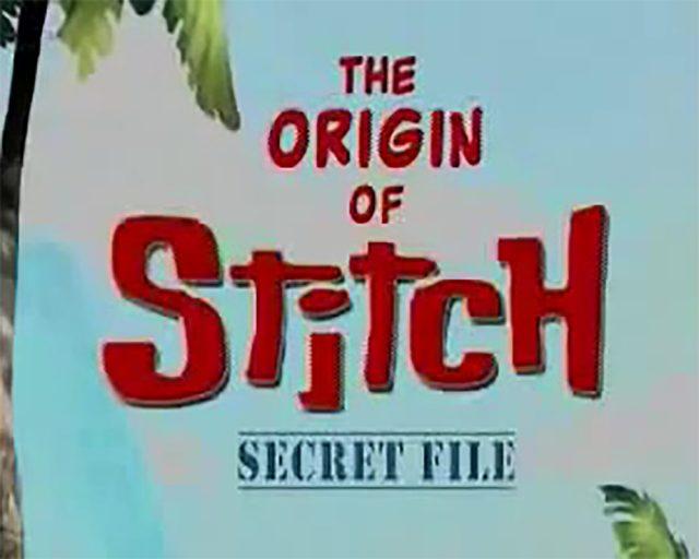 affiche poster origines stitch secret file disney
