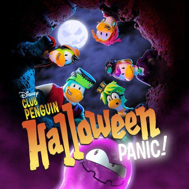 affiche poster panique halloween penguin club disney