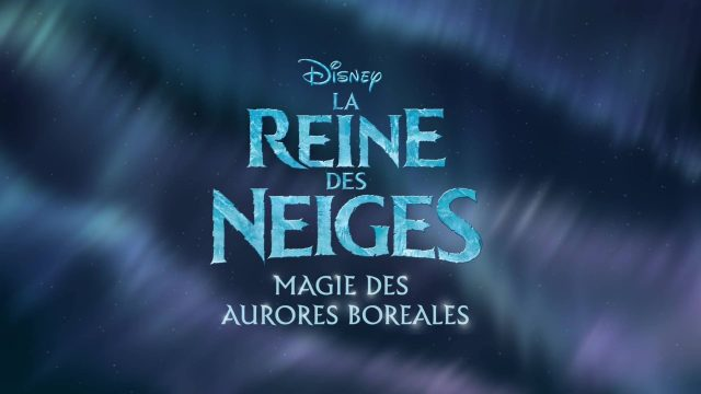 affiche poster reine neiges magie aurores boréales frozen northern lights disney