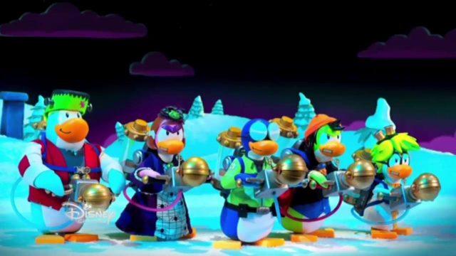 image panique halloween penguin club disney