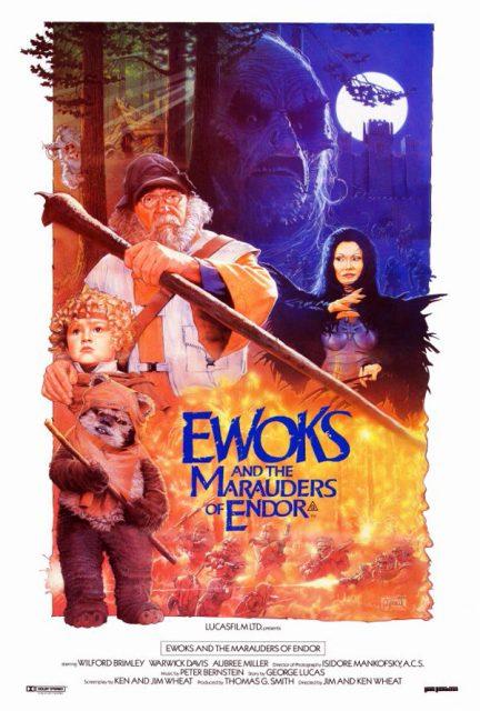 affiche poster aventure ewoks bataille battle endor star wars disney lucasfilm