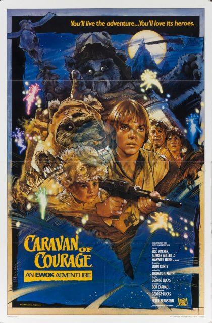 affiche poster aventure ewoks caravane courage  adventure star wars disney lucasfilm