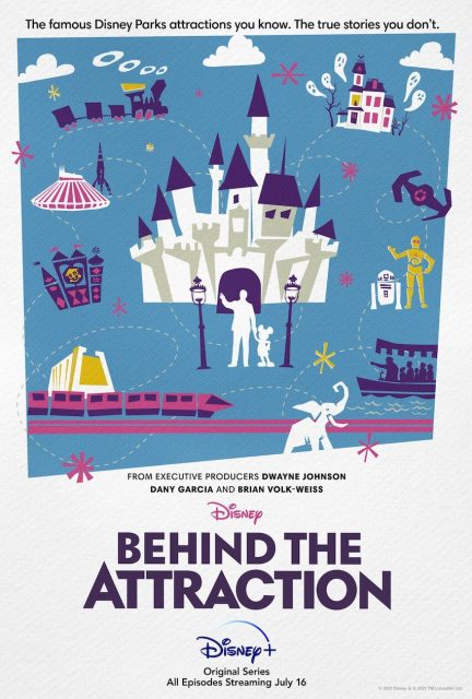 affiche poster coulisses behind attractions disney
