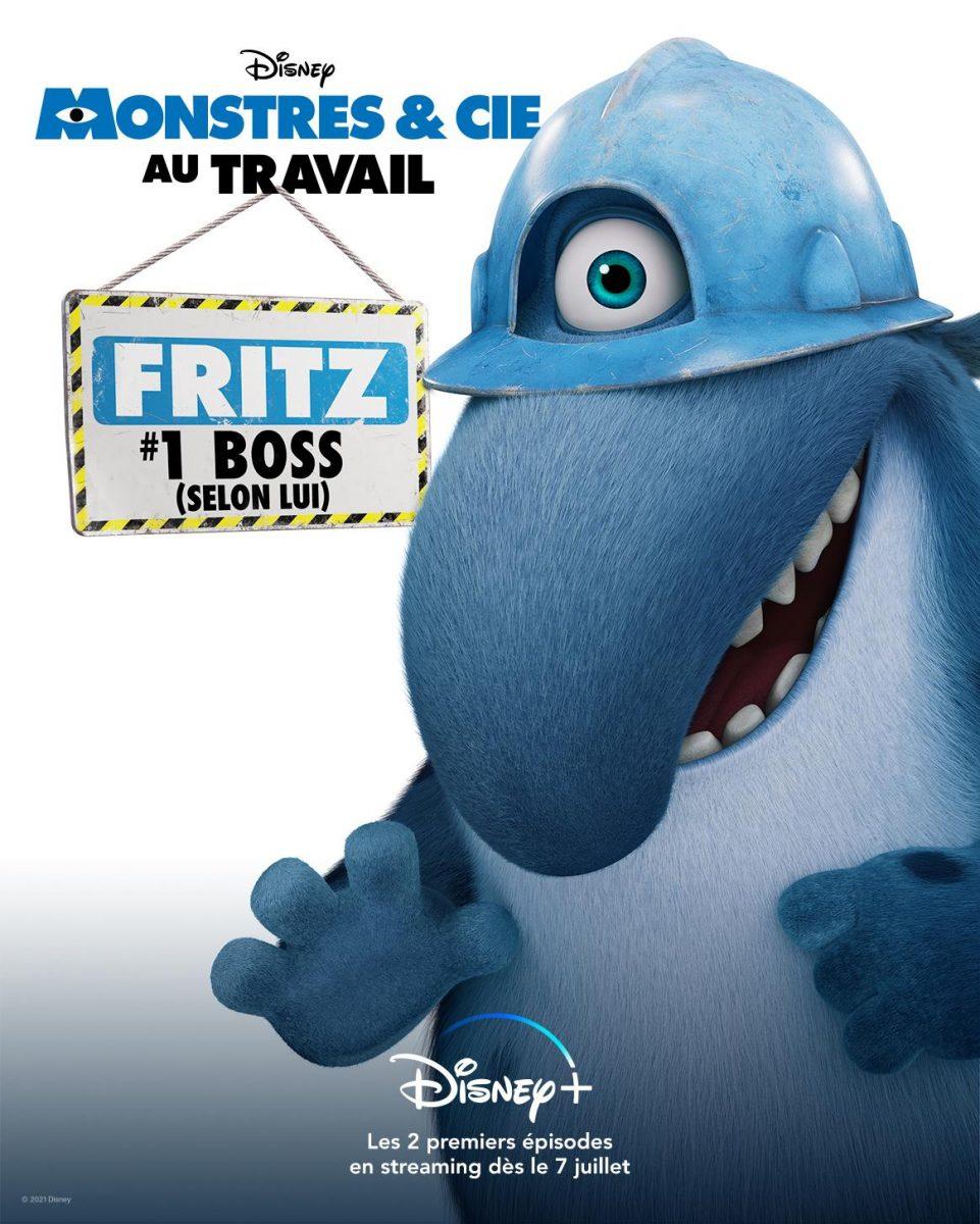 affiche poster monstre cie inc travail work disney pixar