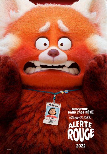 affiche poster turning red disney pixar
