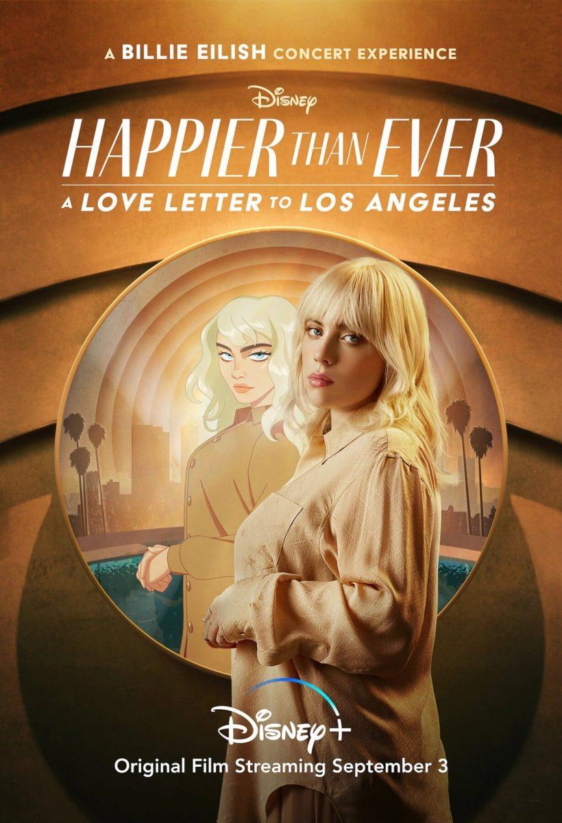 affiche poster happier ever lettre amour los angeles Billie Eilish disney