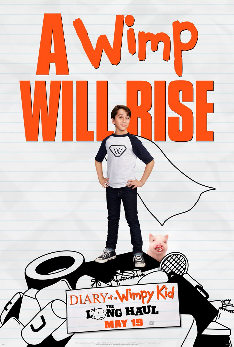 affiche poster journal dégonfle long voyage diary wimpy kid will rise disney fox
